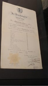 Einstein's school leaving certificate