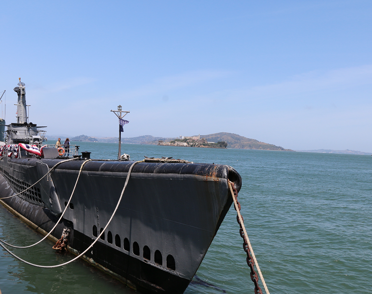 USS Pampanito, a World War II submarine at Fisherman's Wharf