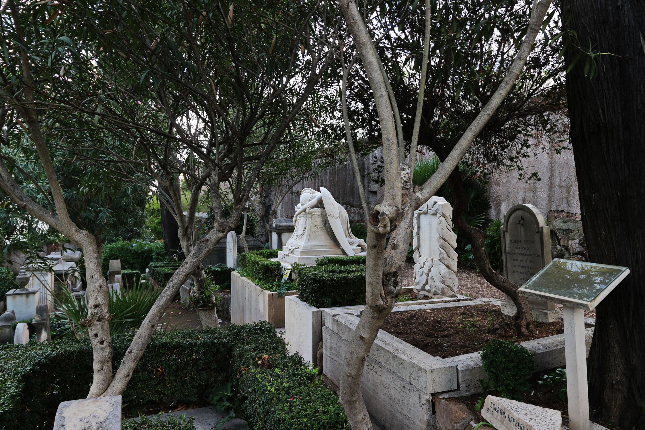 Emily Story's grave in non-Catholic Cemetery Rome