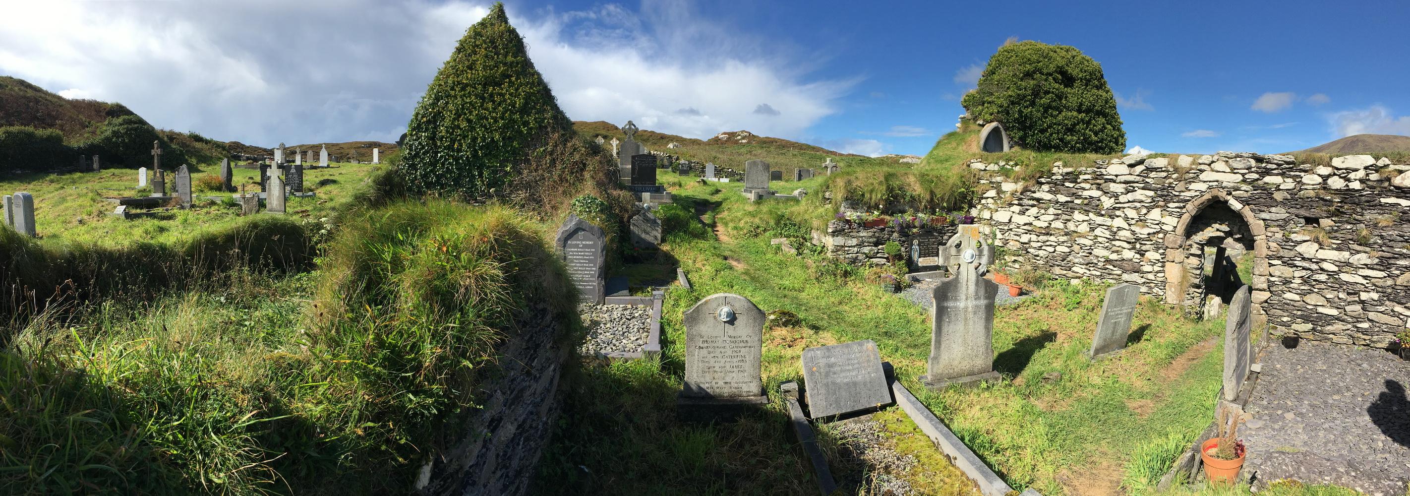 Derrynane Abbey Cemetery in Kerry Ireland