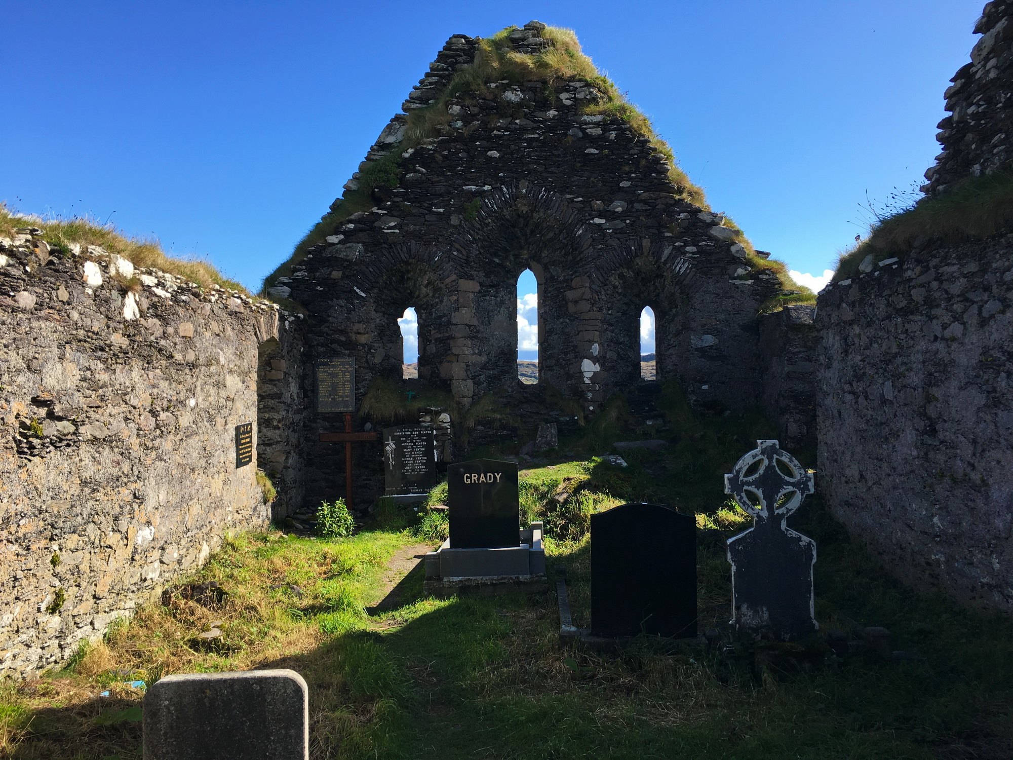 Graves inside an Irish ruin