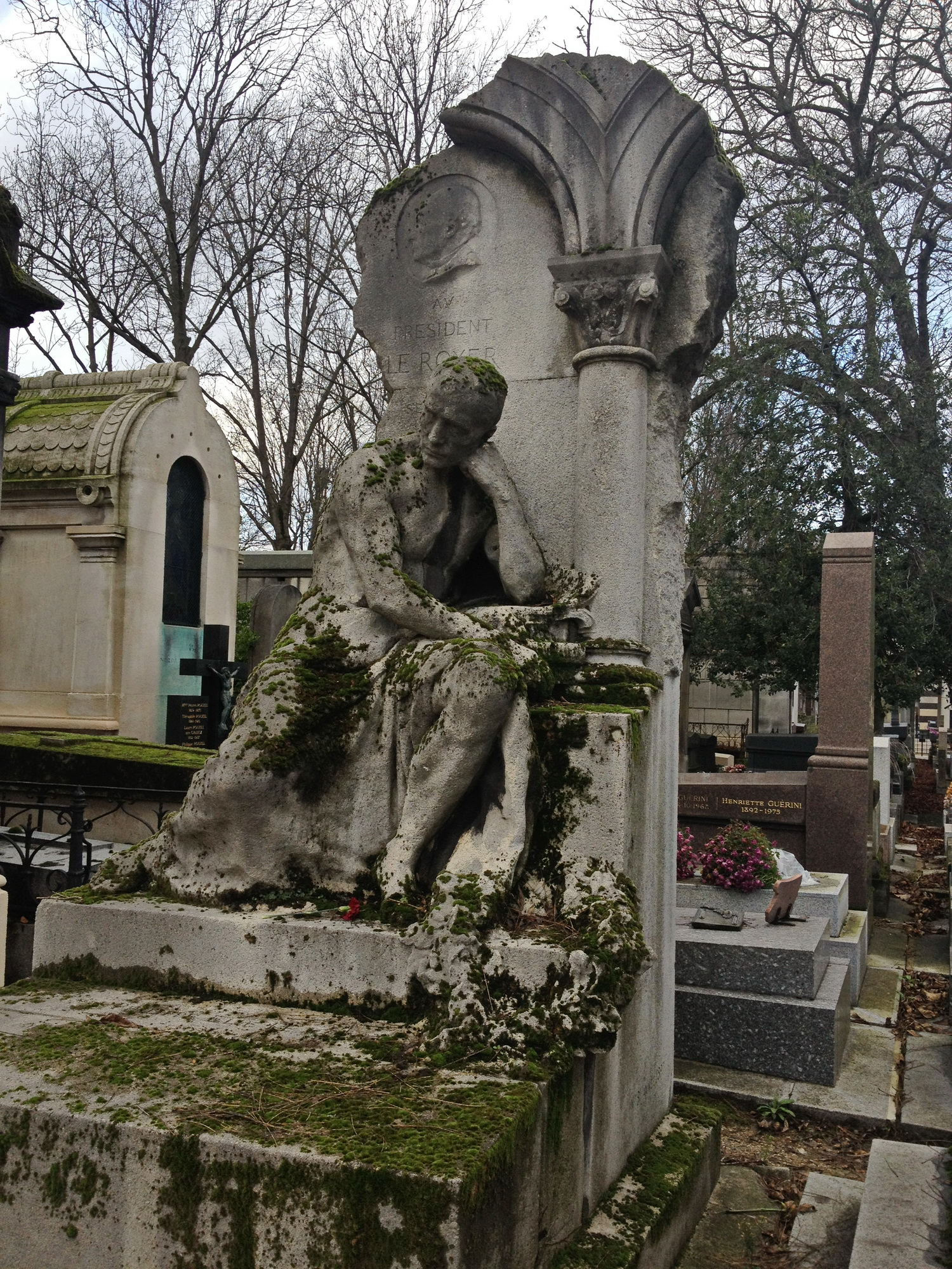 A grave at Pere Lachaise Cemetery Paris