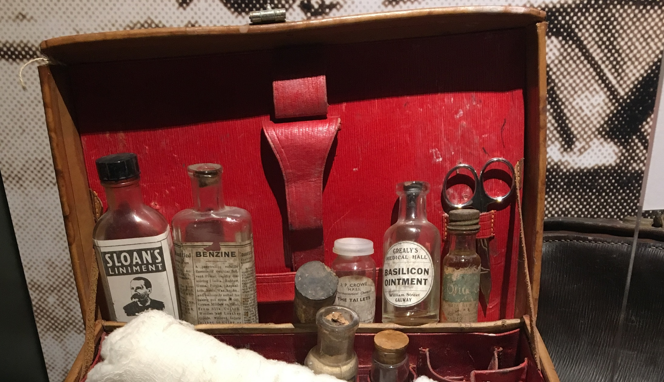 Inside an Irish rebel medical kit from 1916