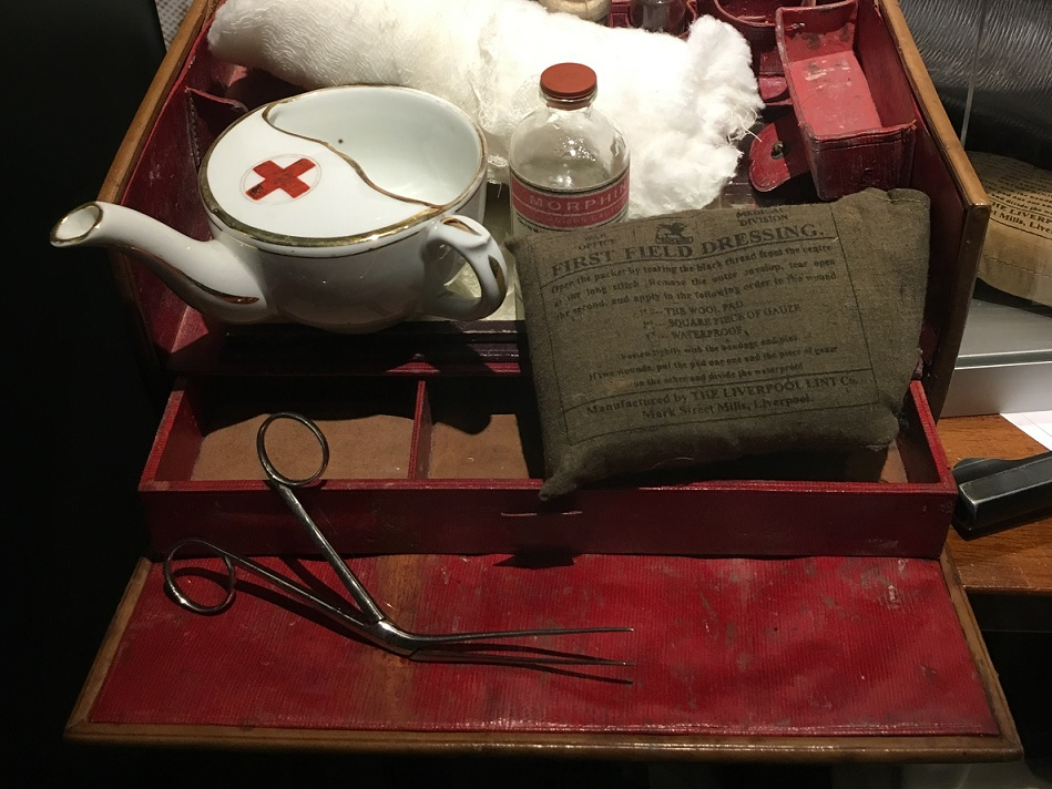 A battlefield medical kit from 1916