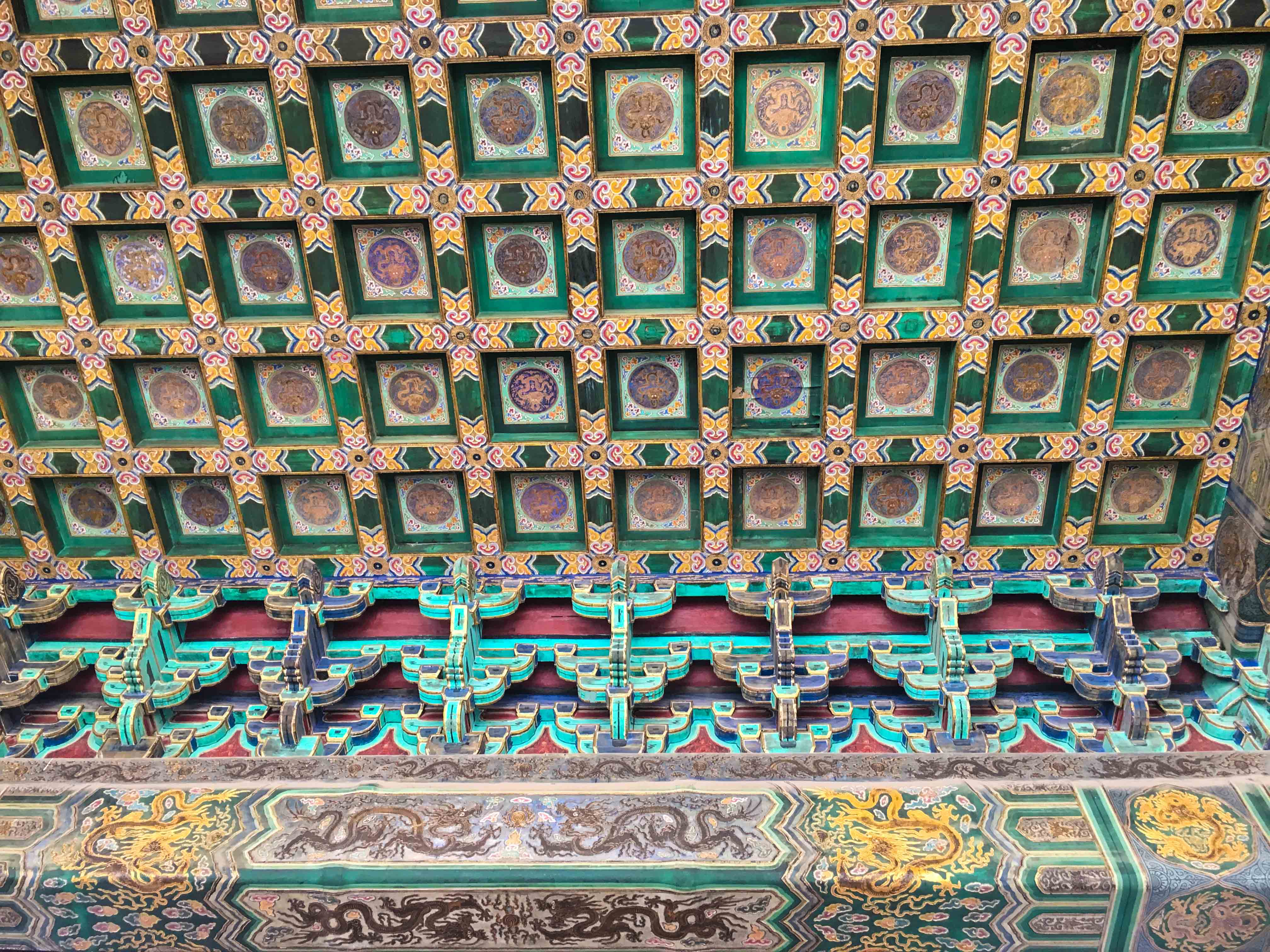 Forbidden city beijing ceiling
