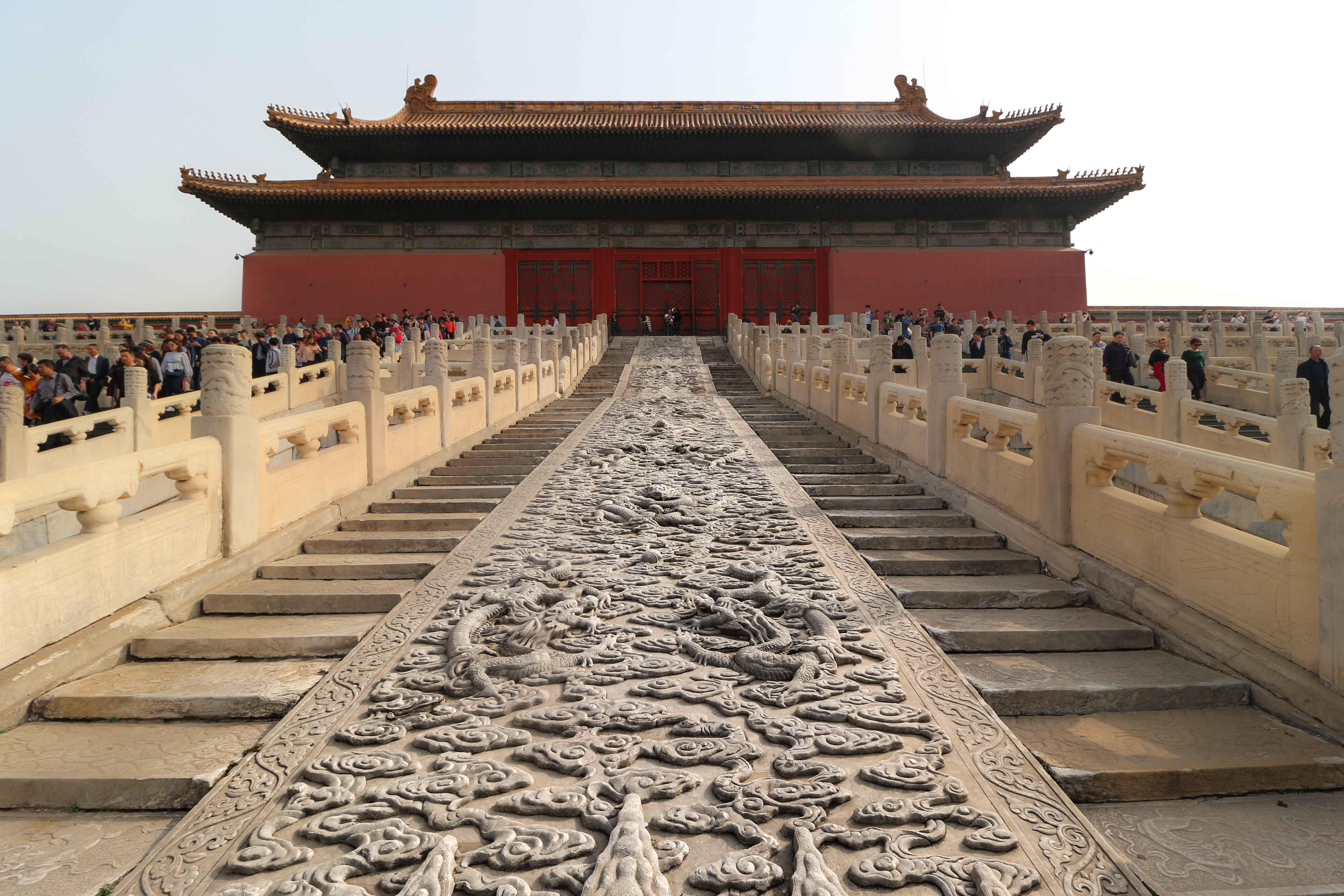 Marble carving in forbidden city Beijing