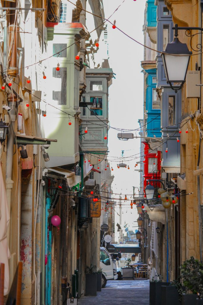 colourful Maltese balconies