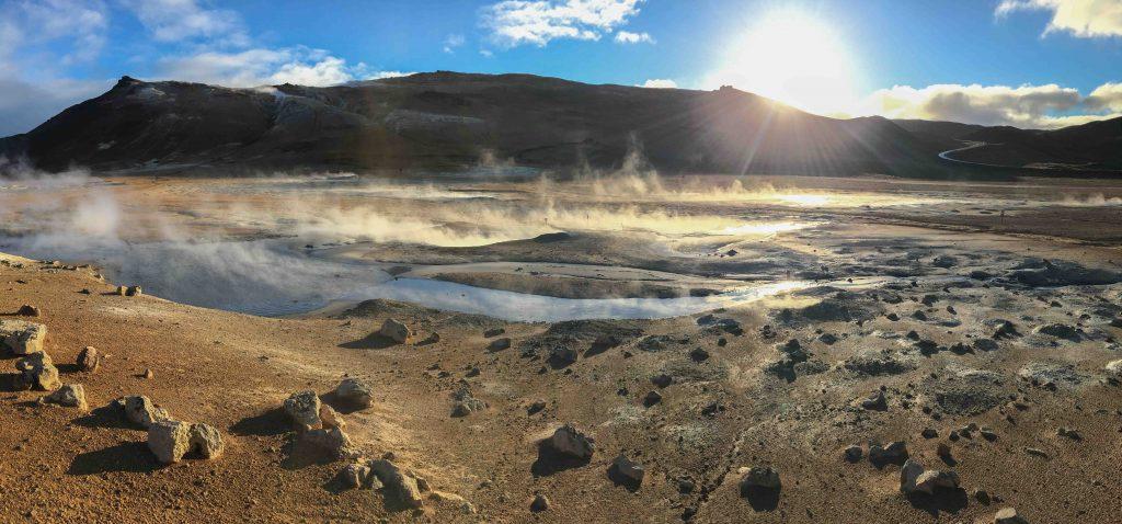 Steamy Namafjall Hverir, Iceland