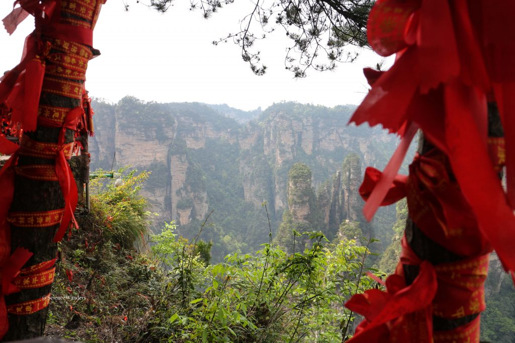 Zhangjiajie red ribbons