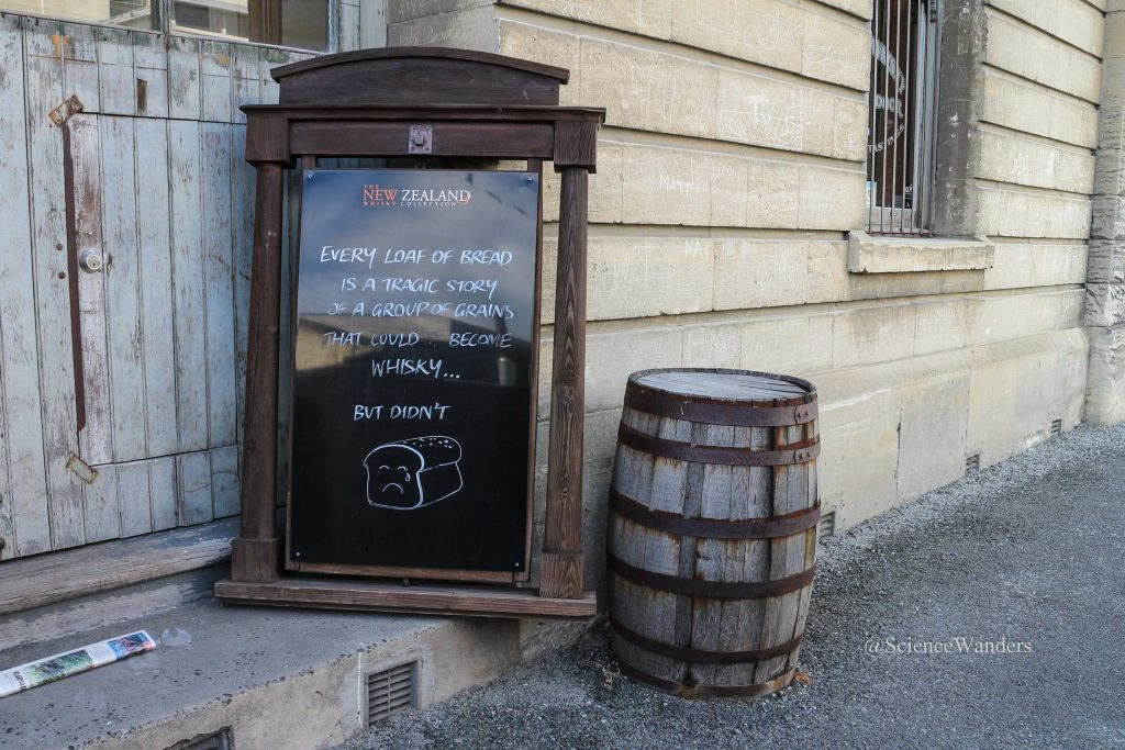 Oamaru whiskey sign