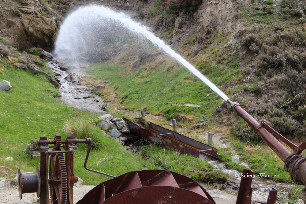 Water pump used during New Zealand's gold rush
